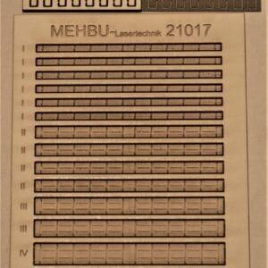 Lasercut-Bausatz,Art.Nr.: 21017 Blechkanäle Gr. I bis IV